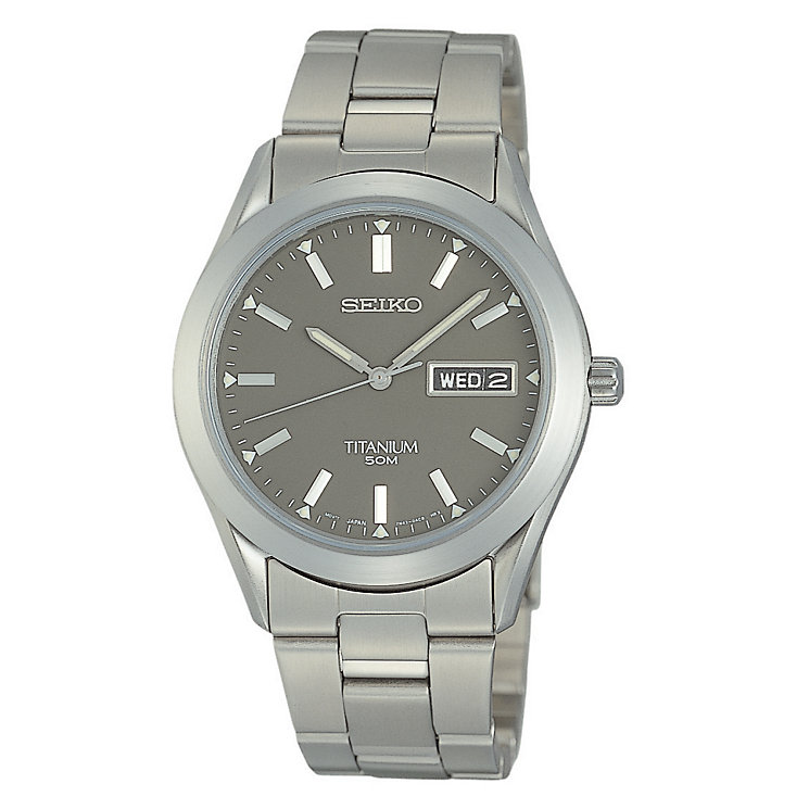 Seiko Men's Grey Titanium Quartz Movement Watch - Product number 2263688