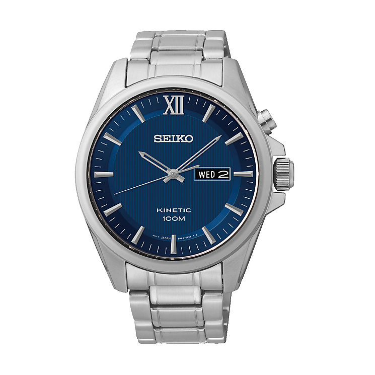 Seiko Men's Blue Dial Stainless Steel Bracelet Watch - Product number 2263726