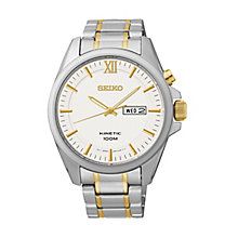 Seiko Men's Kinetic Two Tone Bracelet Watch - Product number 2263742