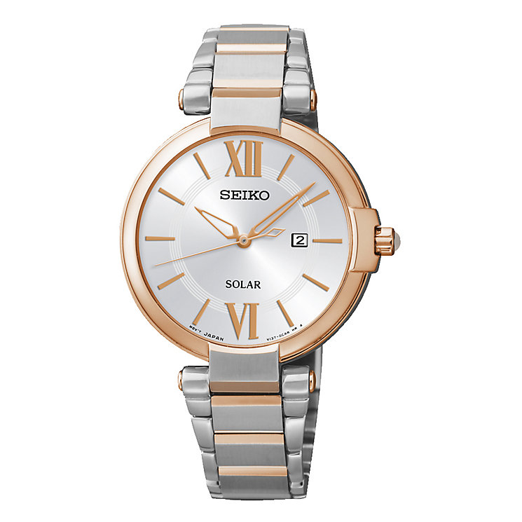 Seiko Ladies' Rose Gold Plated Two Tone Dress Watch - Product number 2263831