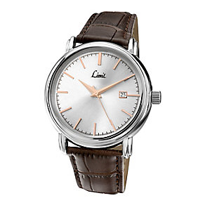 Limit Men's Silver Dial & Brown Strap Watch - Product number 2264439