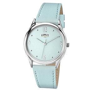 Limit Ladies' Aqua Pastel Blue & Silver Tone Watch - Product number 2264455