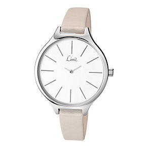 Limit Ladies' White Dial & Beige Strap Watch - Product number 2264714