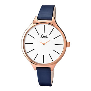 Limit Ladies' White Dial & Navy Strap Watch - Product number 2264757