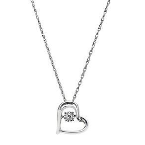 Diamonds in Rhythm sterling silver diamond heart pendant - Product number 2264951