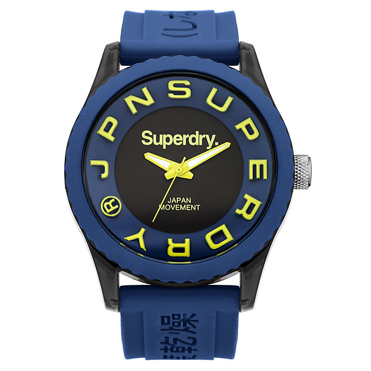 Superdry Men's Tokyo Blue Silicone Strap Watch - Product number 2265079