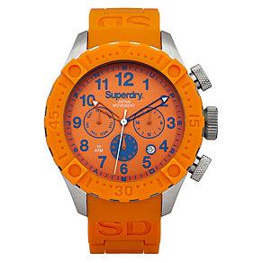 Superdry Men's Deep Sea Scuba Orange Silicone Bracelet Watch - Product number 2265133