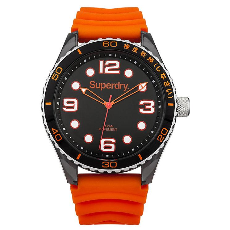 Superdry Ladies' Tokyo Orange & Black Silicone Strap Watch - Product number 2265176