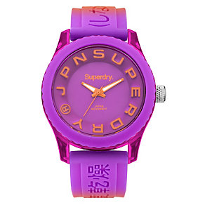 Superdry Ladies' Tokyo Purple Silicone Strap Watch - Product number 2265214