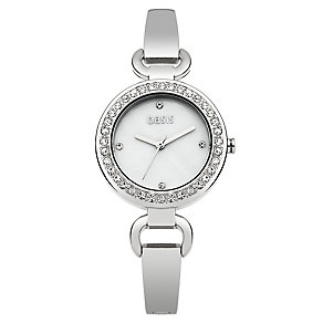 Oasis Ladies' Silver Tone Crystal Set Bracelet Watch - Product number 2265370
