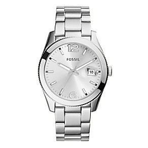 Fossil Ladies' Perfect Boyfriend Silver Tone Bracelet Watch - Product number 2266415