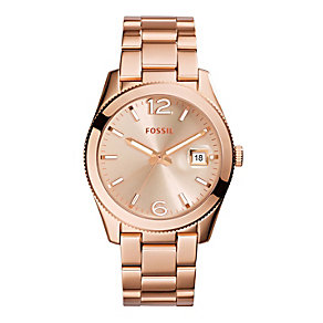 Fossil Ladies' Perfect Boyfriend Rose Gold Tone Watch - Product number 2266431