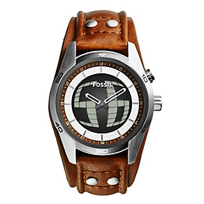 Fossil Men's Coachman Tan Leather Strap Watch - Product number 2266490