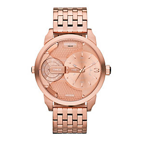 Diesel Gents' Mini Daddy Collection Rose Gold Tone Watch - Product number 2266725