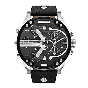 Diesel Men's Mini Daddy Stainless Steel Black Strap Watch - Product number 2266733