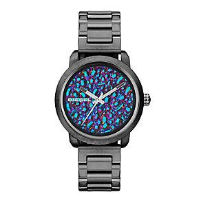 Diesel Ladies' Flare Gunmetal Case Rainbow Stone Dial Watch - Product number 2266741