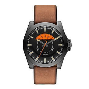 Diesel Men's Arges Black Dial Tan Leather Strap Watch - Product number 2266792