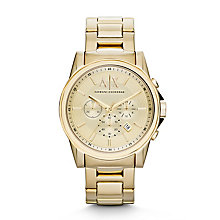 Armani Exchange Men's Gold-Tone Chronograph Watch - Product number 2266822