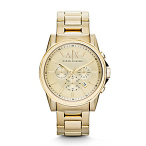 Armani Exchange Gold-Tone Chronograph Watch - Product number 2266822