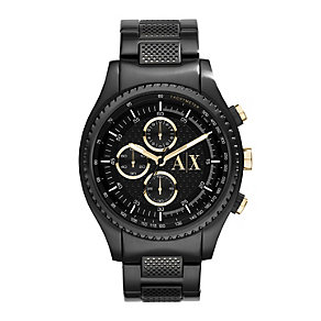 Armani Exchange Men's Black & Gold Tone Chronograph Watch - Product number 2266830