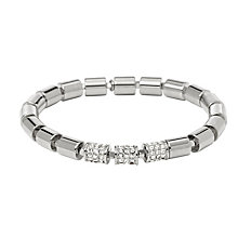 Fossil Silver Tone Beaded Crystal Bracelet - Product number 2267462
