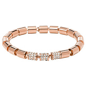 Fossil Rose Gold Tone Beaded Crystal Bracelet - Product number 2267470