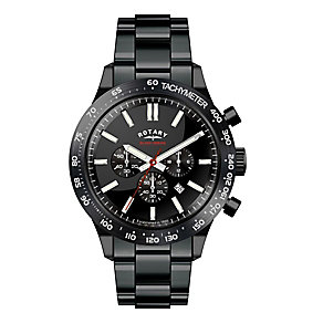 Rotary Men's Black Ion Plated Chronograph Bracelet Watch - Product number 2267829