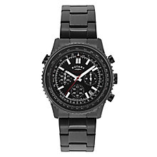 Rotary Men's Black Ion Plated Chronograph Bracelet Watch - Product number 2267845