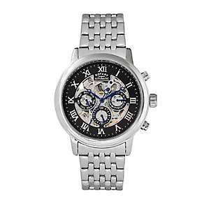 Rotary Men's Skeleton Stainless Steel Bracelet Watch - Product number 2267934