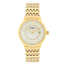 Rotary Men's Yellow Gold Plated Bracelet Watch - Product number 2268140