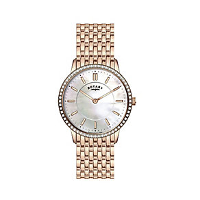 Rotary Ladies' Mother of Pearl Rose Gold Plated Watch - Product number 2268191