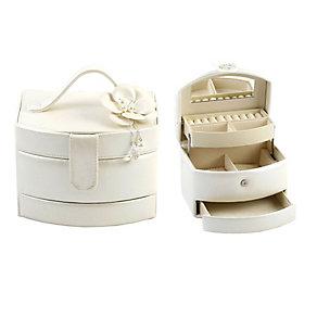 Cream Flower Design Jewellery Box - Product number 2268450