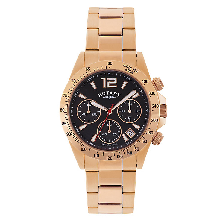 rotary watches automatic mechanical quartz h samuel rotary men s rose gold plated chronograph sports watch product number 2268477