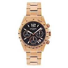 Rotary Men's Rose Gold Plated Chronograph Sports Watch - Product number 2268477