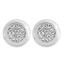Swarovski silver tone crystal pave stud earrings - Product number 2268485