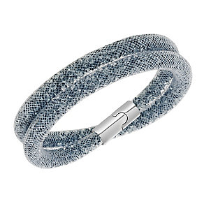 Swarovski Stardust dark grey crystal double wrap bracelet - Product number 2268531