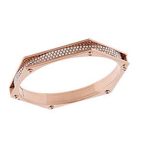 Swarovski Bolt rose gold-plated crystal bangle - Product number 2268752