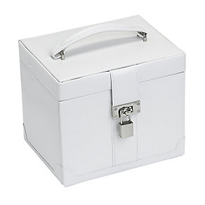 Medium White Jewellery Box With Removable Drawer - Product number 2268817