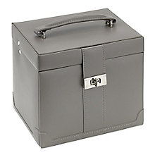 Mink Medium Rectangular Travel Suitcase Jewellery Box - Product number 2268833