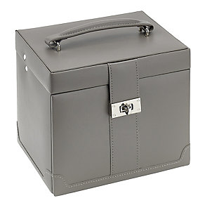 Medium Mink Brown Jewellery Box With Removable Drawer - Product number 2268833