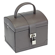 Mink Small Rounded Suitcase Jewellery Box - Product number 2268841