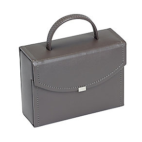 Mink Brown Travel Suitcase Style Jewellery Box - Product number 2268876