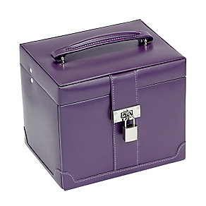 Medium Purple Jewellery Box With Removable Drawer - Product number 2268884