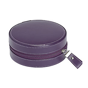 Purple Circular Zip Detail Jewellery Box - Product number 2268906