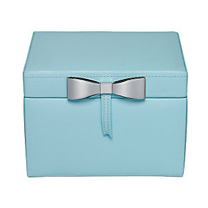 Teal Metallic Bow Detail Jewellery Box - Product number 2268914