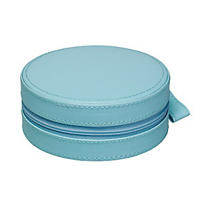 Teal Circular Zip Detail Jewellery Box - Product number 2268930