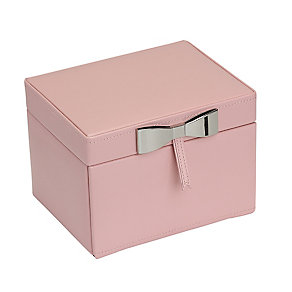 Pink Metallic Bow Detail Jewellery Box - Product number 2268949