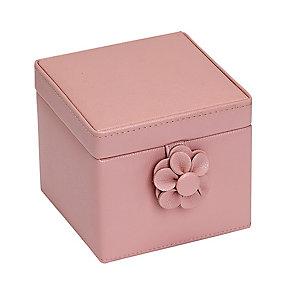 Small Pink Flower Detail Jewellery Box - Product number 2268965