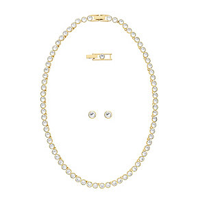 Swarovski crystal tennis necklace & earrings set - Product number 2269864