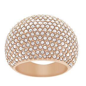 Swarovski rose gold-plated stone set crystal ring size O - Product number 2270277